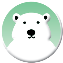 Little Climate logo, polar bear