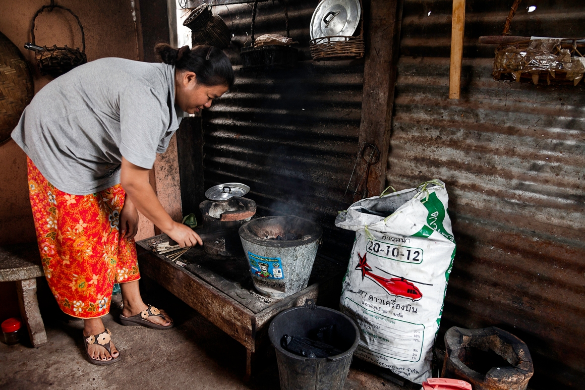 Ban NalaoMs Khanthong, 46 years old 6 more people live in the household Ms Khanthong is a housewive and the only one that cooks in the house, two times in the morning and in the evening. She cooks typical Lao foods. The new stove has been in use for 9 mo