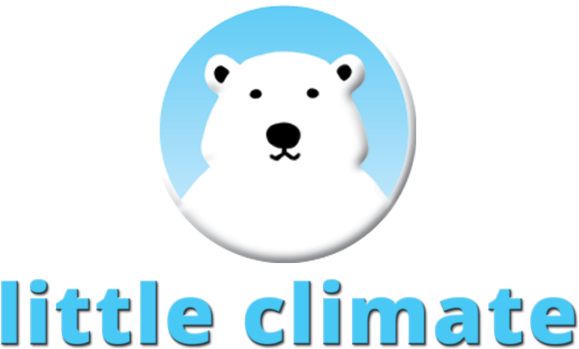 Little Climate logo with text, polar bear