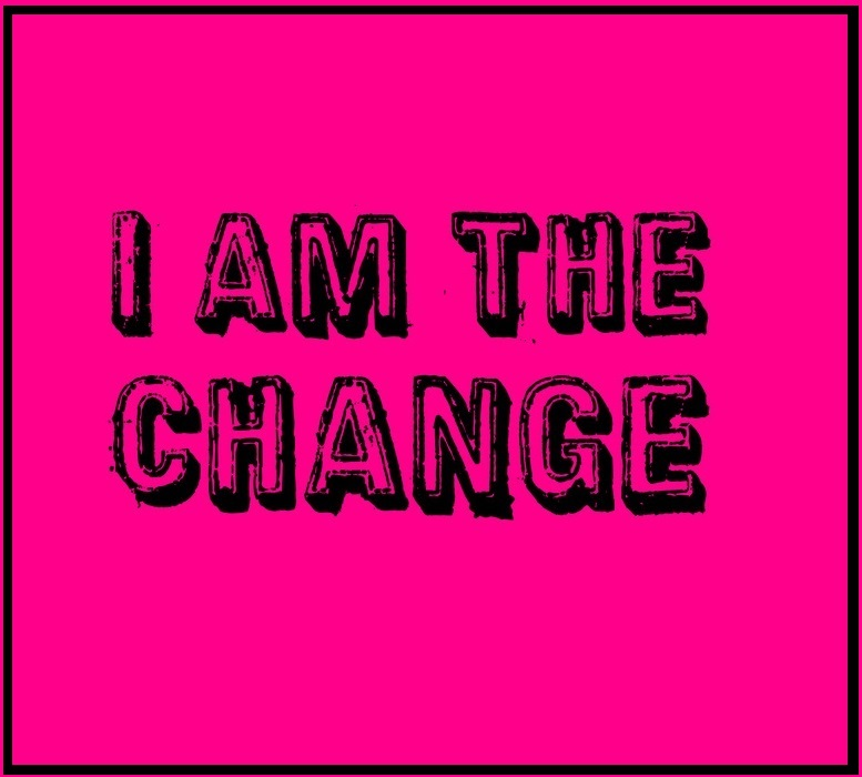 Climate change poster & slogan -I am the Change