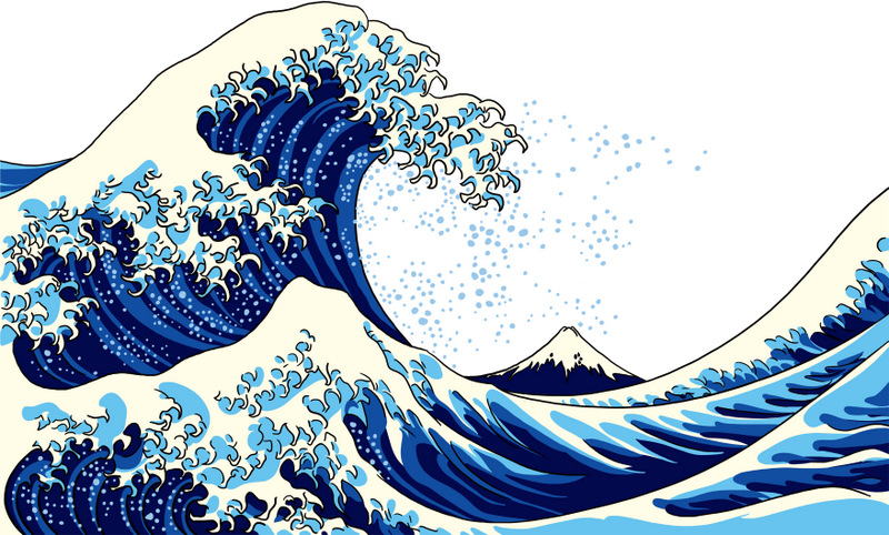 Hokusai Great Wave by Little Climate