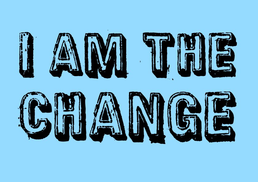 I am the #change #climate #art blue