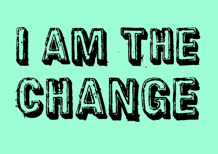 I am the #change #climate #art green