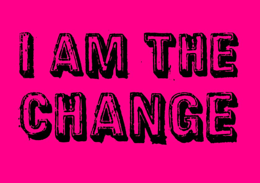 I am the #change #climate #art pink