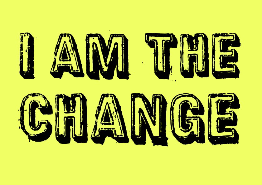 I am the #change #climate #art yellow