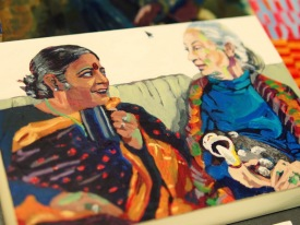 Vandana Shiva and Jane Goodall